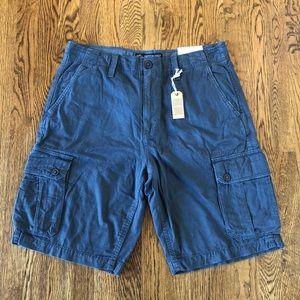 American Eagle Steel Blue Cargo Shorts—33